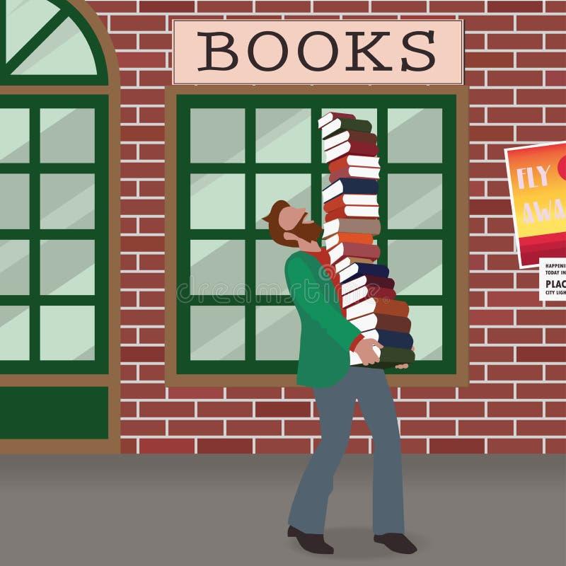 Bärande böcker för Nerd royaltyfri foto