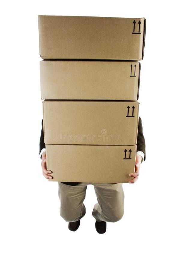 bärande packar arkivbild