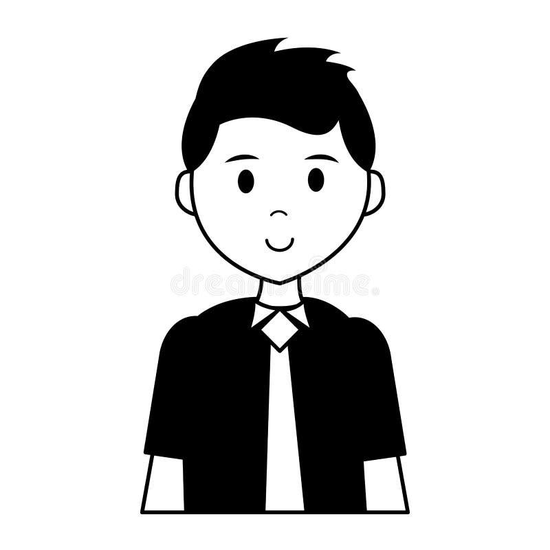 Bärande slips för man stock illustrationer