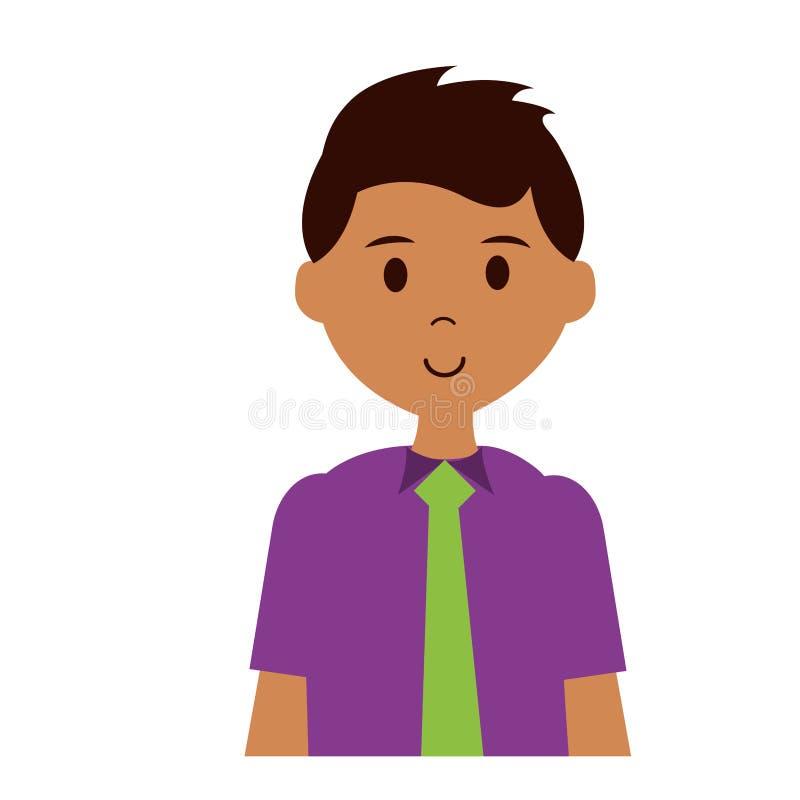 Bärande slips för man vektor illustrationer