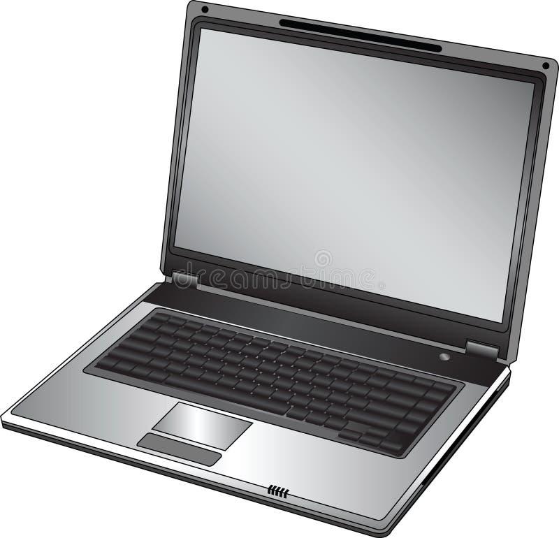bärbar dator öppnade vektorn stock illustrationer