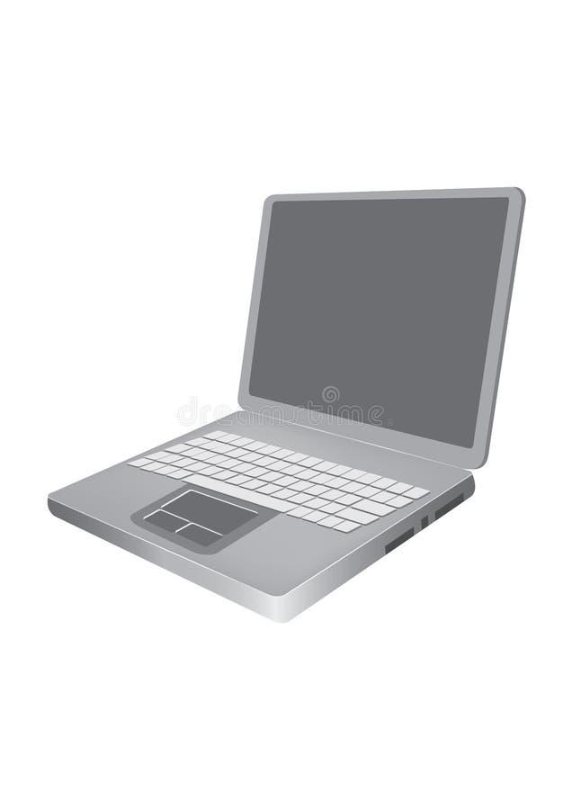 bärbar dator stock illustrationer
