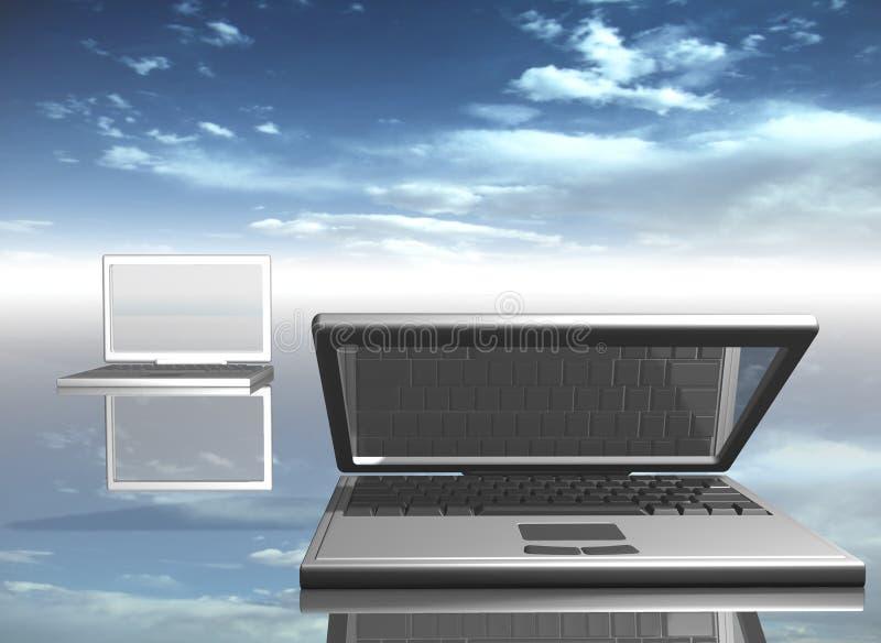 Download Bärbar dator stock illustrationer. Illustration av teknologi - 993602