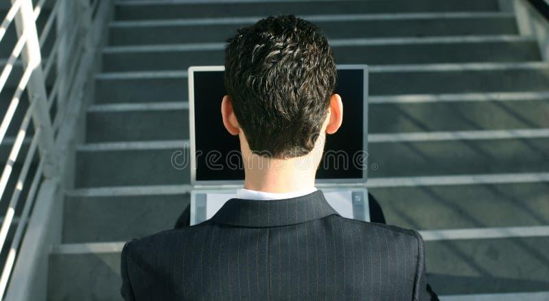 bärbar dator för 2 affär arkivfoto