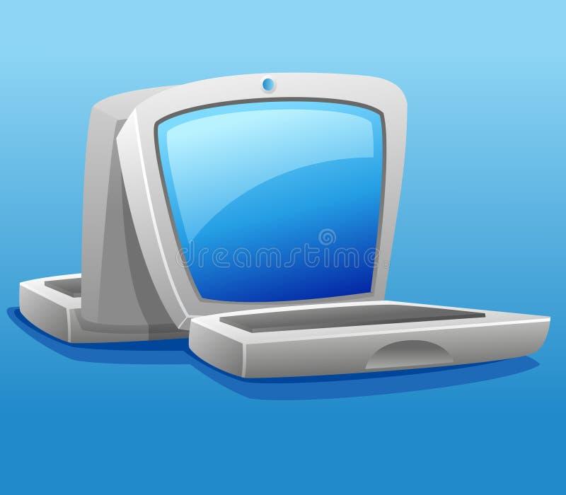 bärbar dator två stock illustrationer