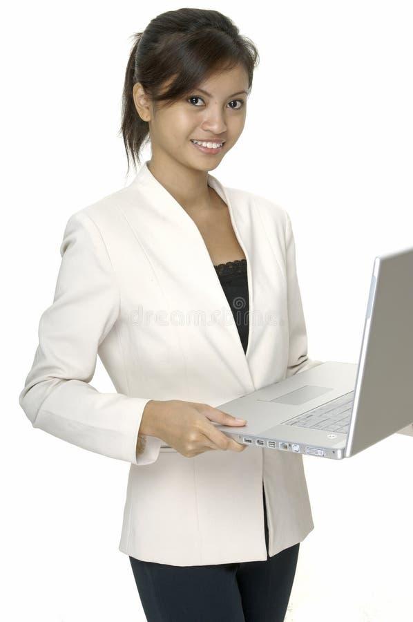 bärbar datoranvändare royaltyfri bild