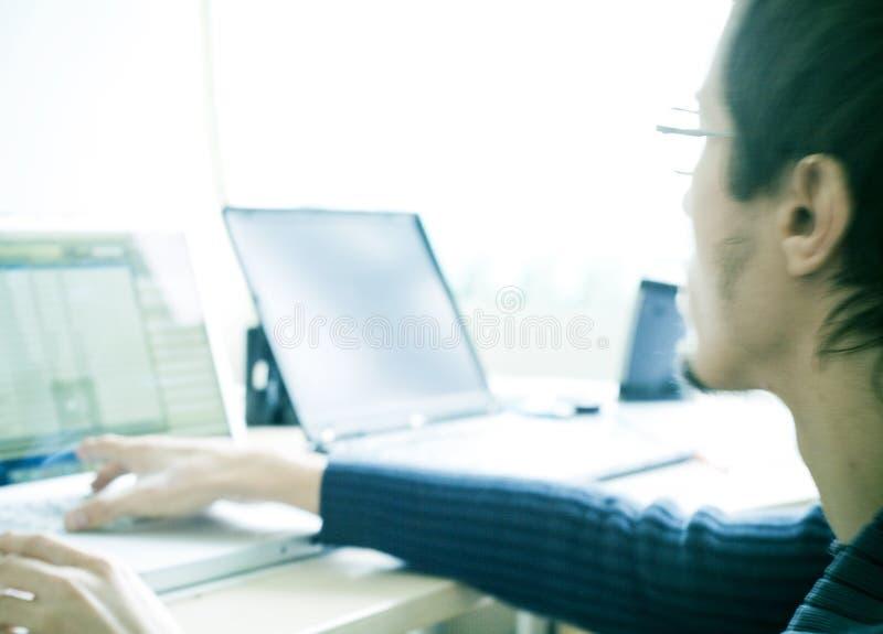 bärbar datordeltagare arkivfoton