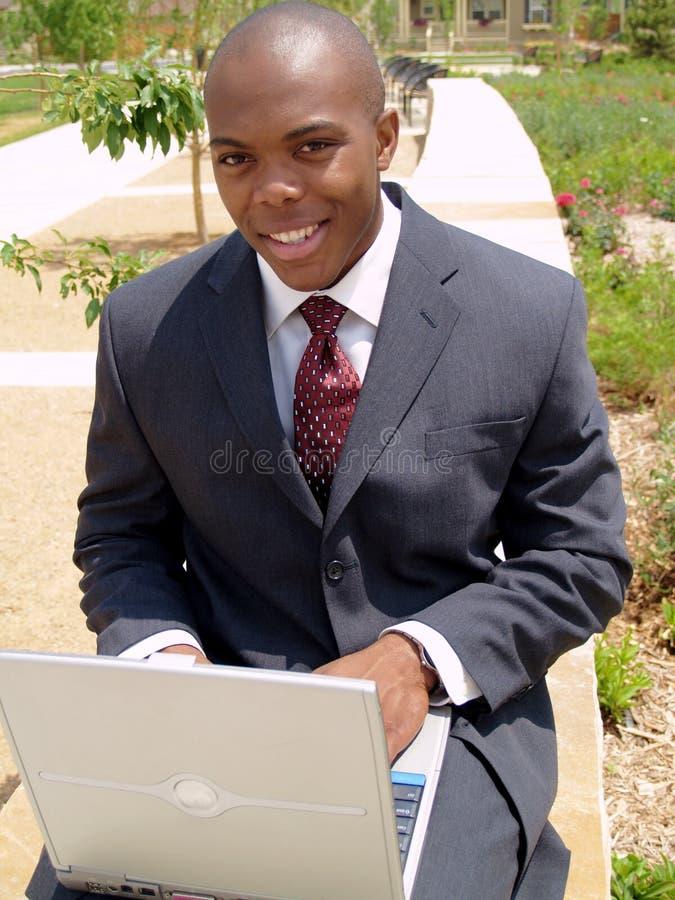 bärbar datorman royaltyfri foto