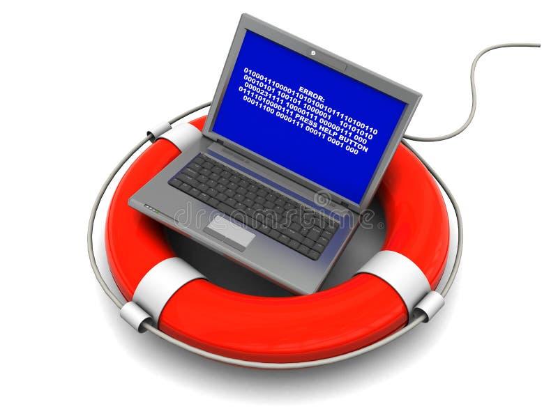 bärbar datorräddningsaktion