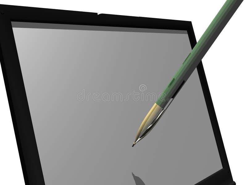bärbar datorwriting vektor illustrationer