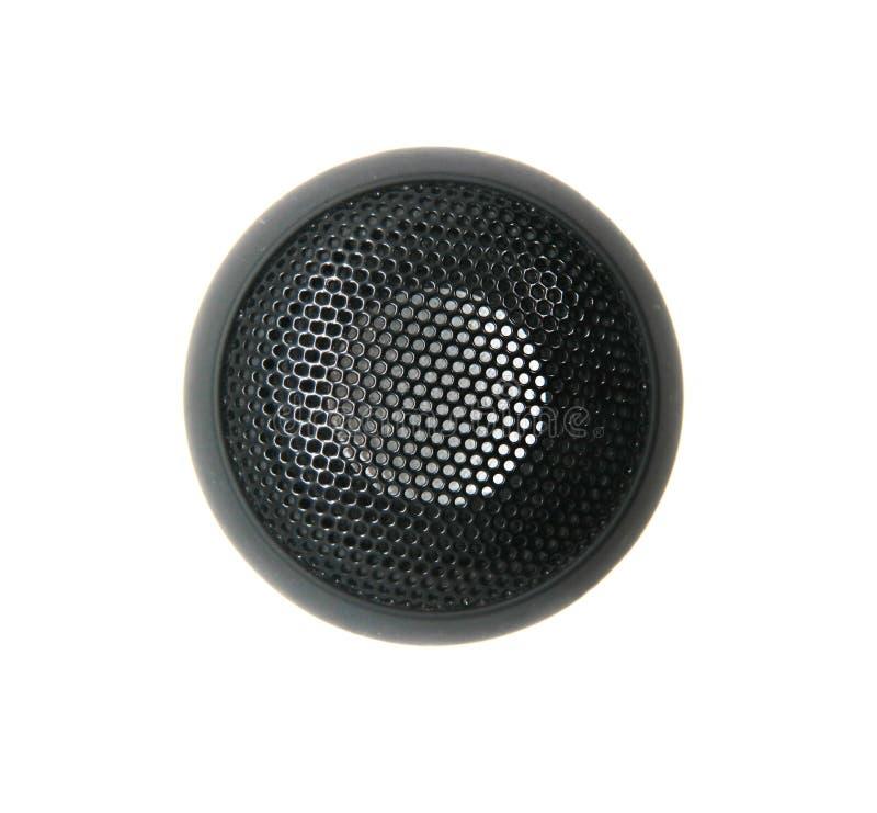 Bärbar liten högtalare för telefonljudutrustning som isoleras på vit bakgrund arkivbilder