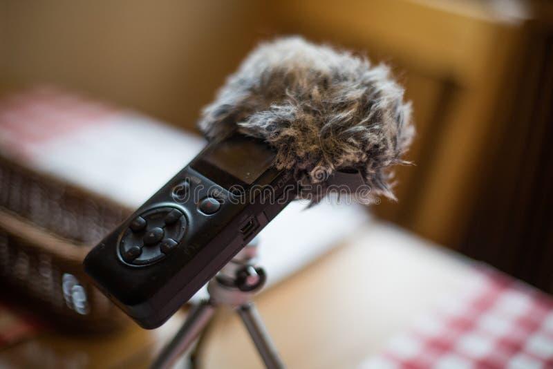 B?rbar ljudsignal registreringsapparat fotografering för bildbyråer