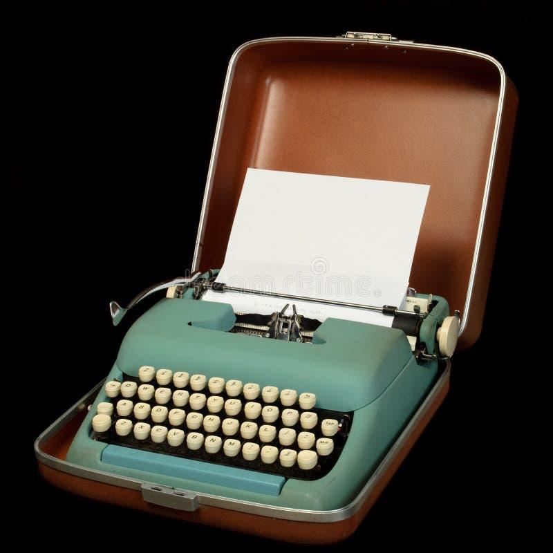 Bärbar manuell skrivmaskin arkivfoto