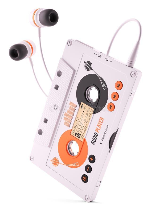 Bärbar musikalisk spelare för kassett Mp3 royaltyfri illustrationer