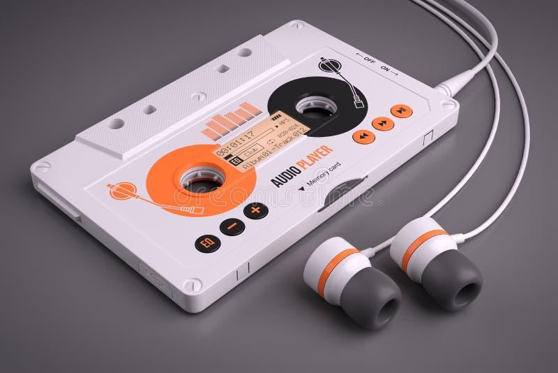 Bärbar musikalisk spelare för kassett Mp3 stock illustrationer