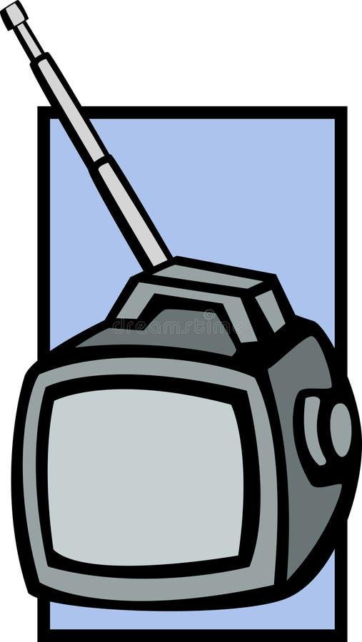 bärbar television royaltyfri illustrationer