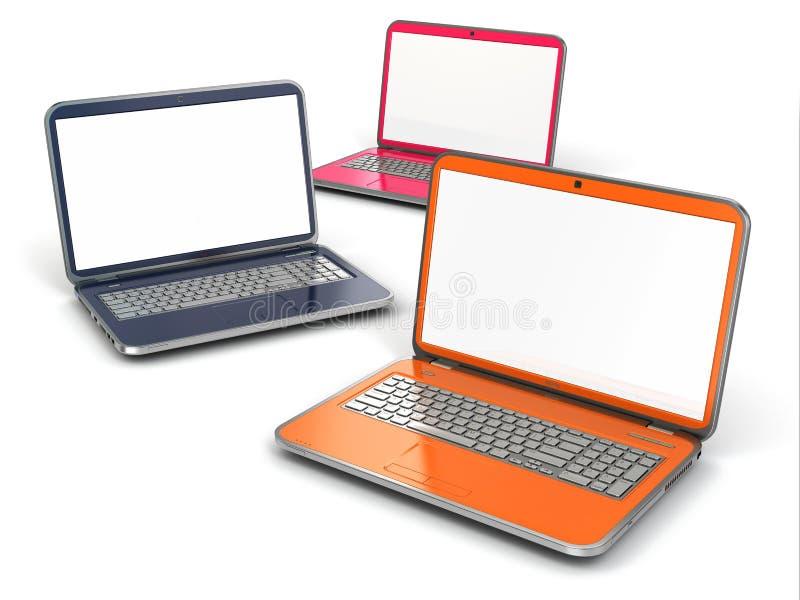 Bärbara datorer stock illustrationer