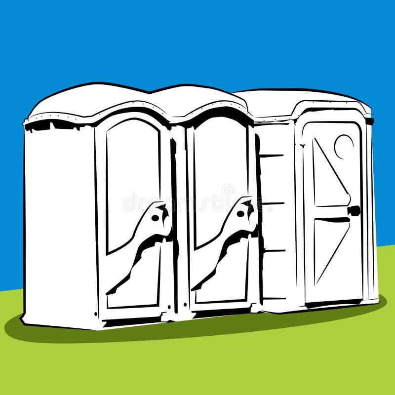 Bärbara offentliga toaletter stock illustrationer