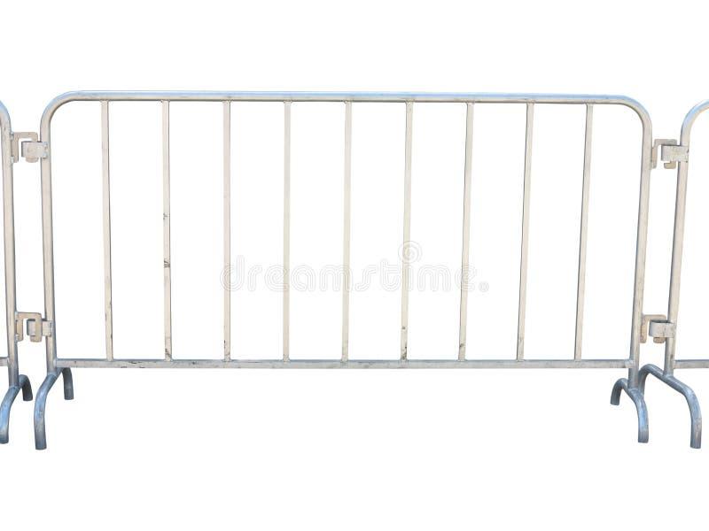 Bärbart metalliskt staket som isoleras över vit royaltyfria foton