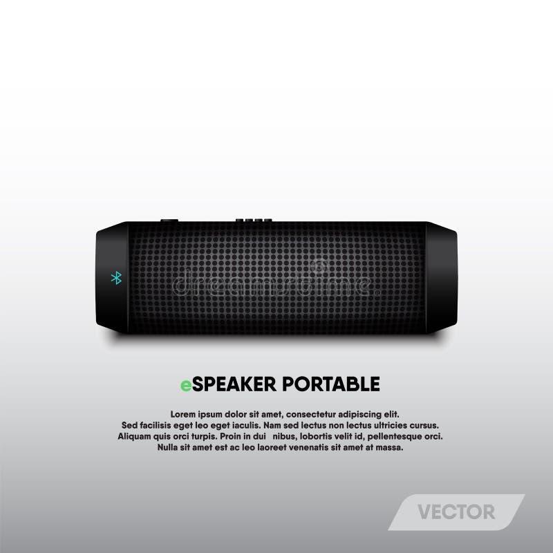 Bärbart och stereo- ljud för högtalare, vektor royaltyfri illustrationer