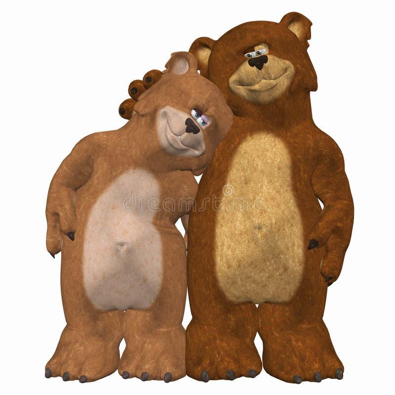 Bären in der Liebe lizenzfreie abbildung