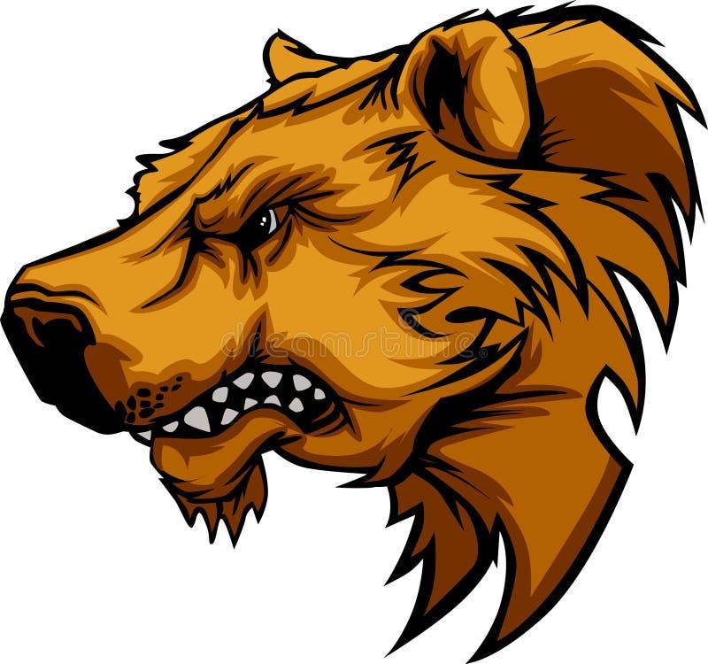 Bären-Maskottchen-Zeichen stock abbildung