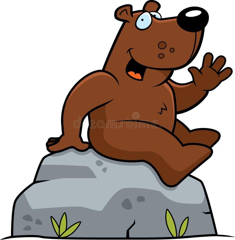 Bären-Sitzen lizenzfreie abbildung