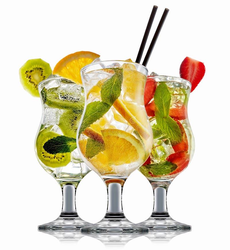 Bärkylarecoctail, martini, mojito, Pina Colada arkivbild
