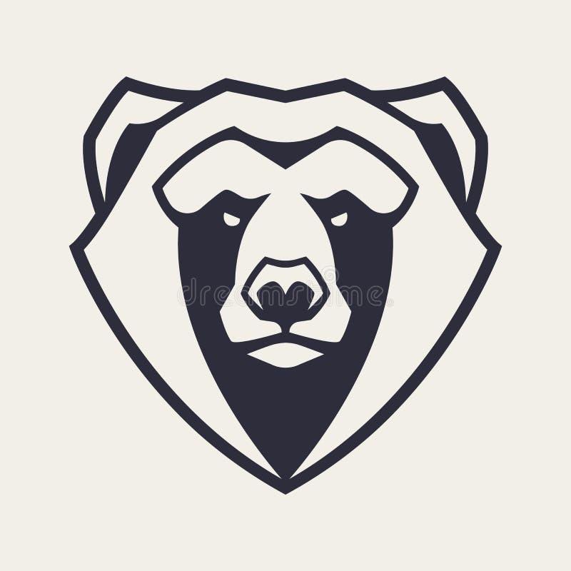Bärn-Maskottchen-Vektor-Ikone lizenzfreie abbildung