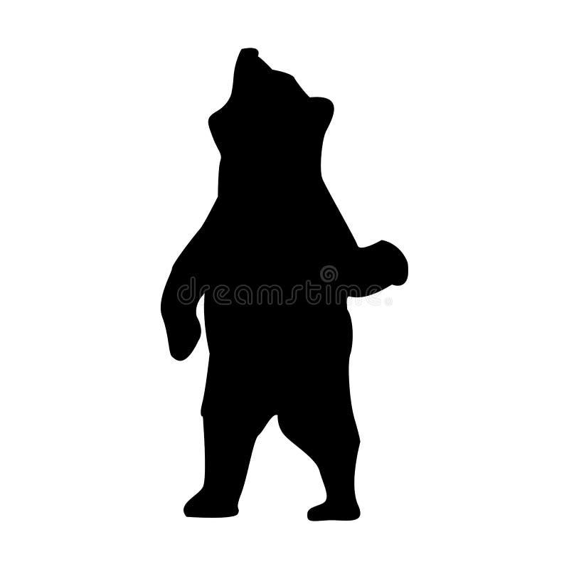 Bärn-Schattenbild-Tier vektor abbildung