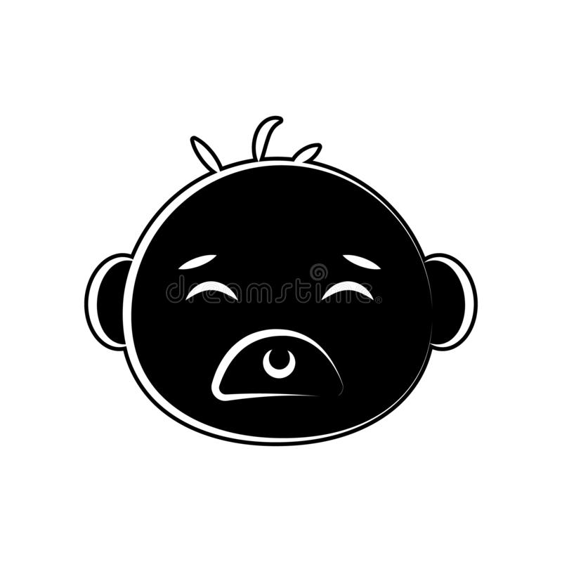 Bärnbabygesichts-Kunstikone Element der Mutterschaft für bewegliches Konzept und Netz Appsikone Glyph, flache Ikone für Websiteen stock abbildung