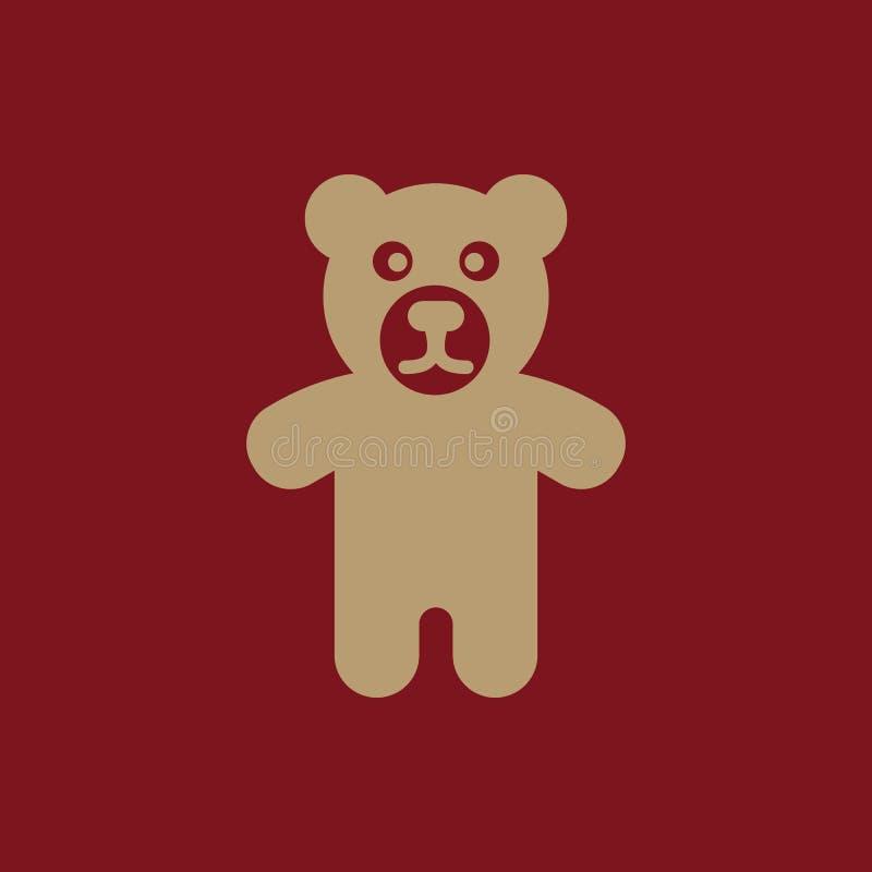 Bärnikone Entwurf Spielzeug, Bärnsymbol web graphik ai app zeichen nachricht flach bild zeichen ENV Kunst Bild - Vorrat lizenzfreie abbildung