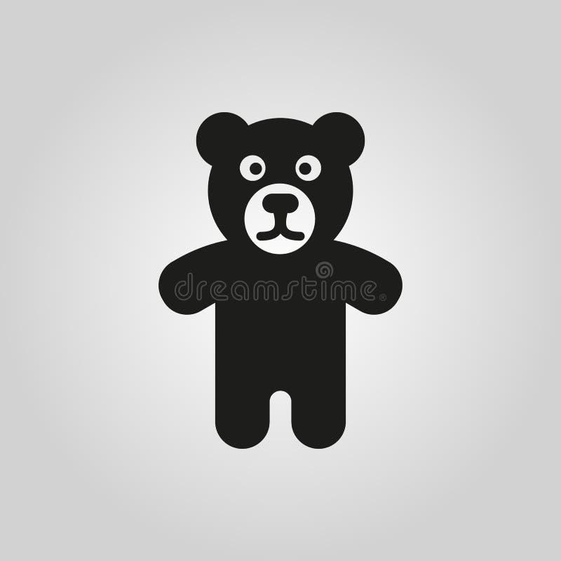 Bärnikone Entwurf Spielzeugsymbol web graphik ai app zeichen nachricht flach bild zeichen ENV Kunst Bild - Vorrat stock abbildung