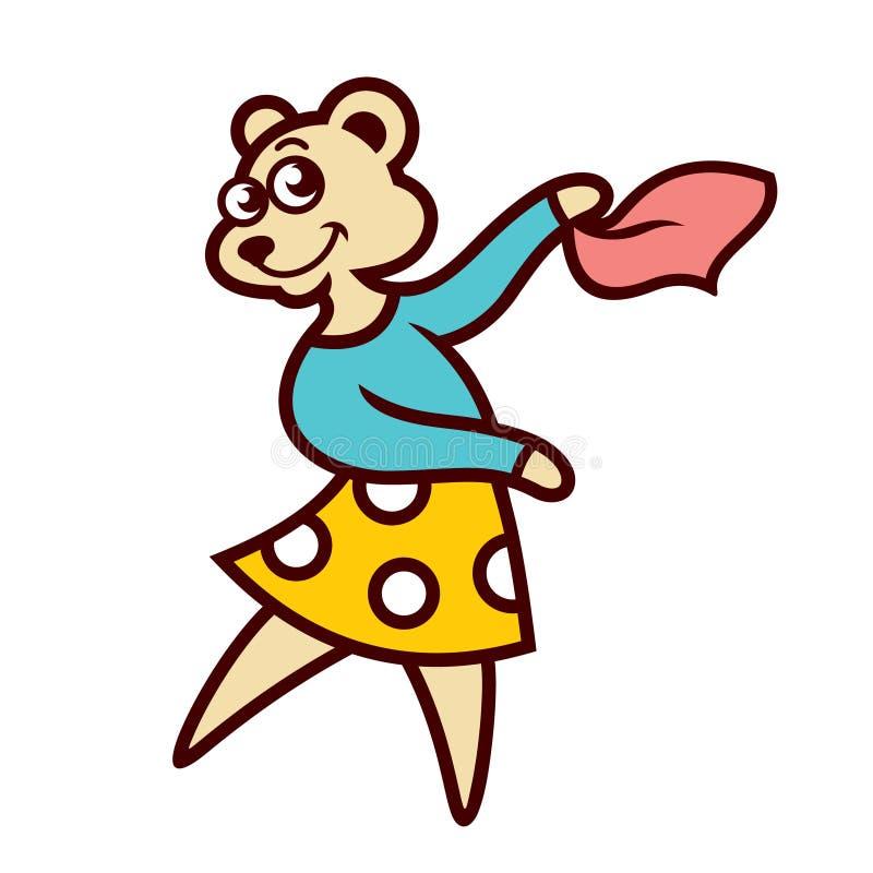 Bärnmädchen-Tanzenzeichen stock abbildung
