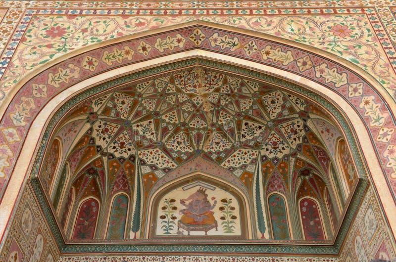 Bärnstensfärgad Fort, Jaipur royaltyfria bilder