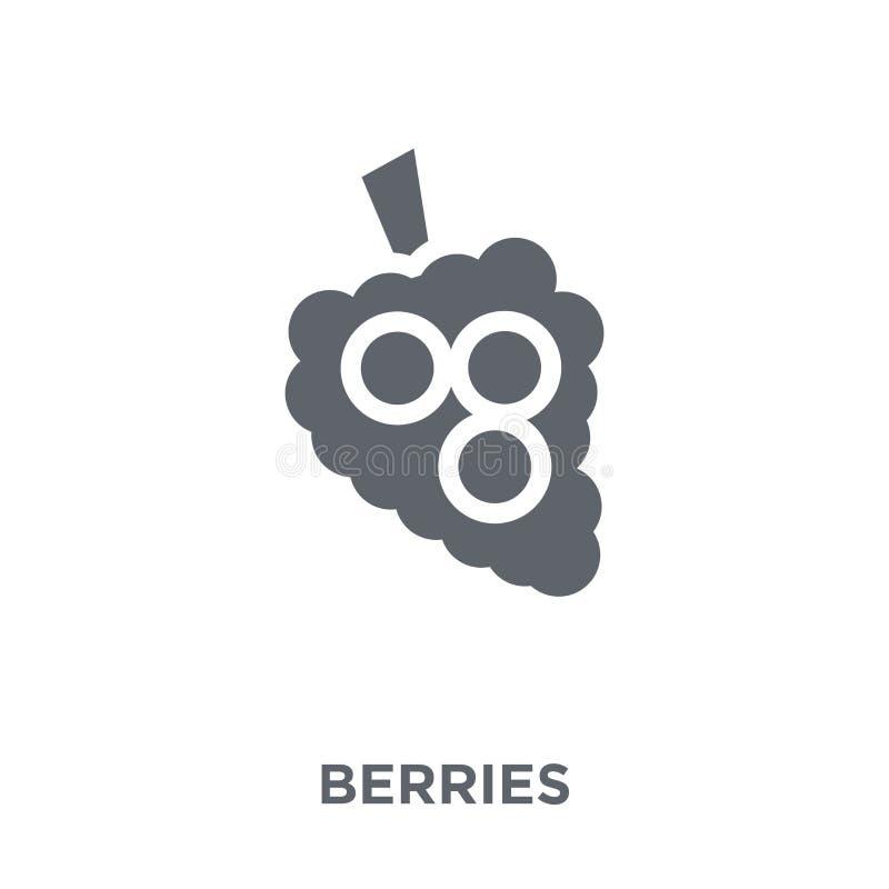 Bärsymbol från frukt- och grönsaksamling vektor illustrationer