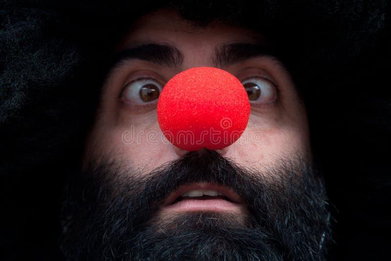 Bärtiger Clown lizenzfreies stockbild