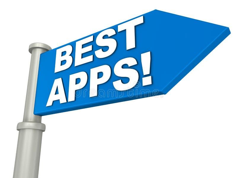 Bäst apps vektor illustrationer