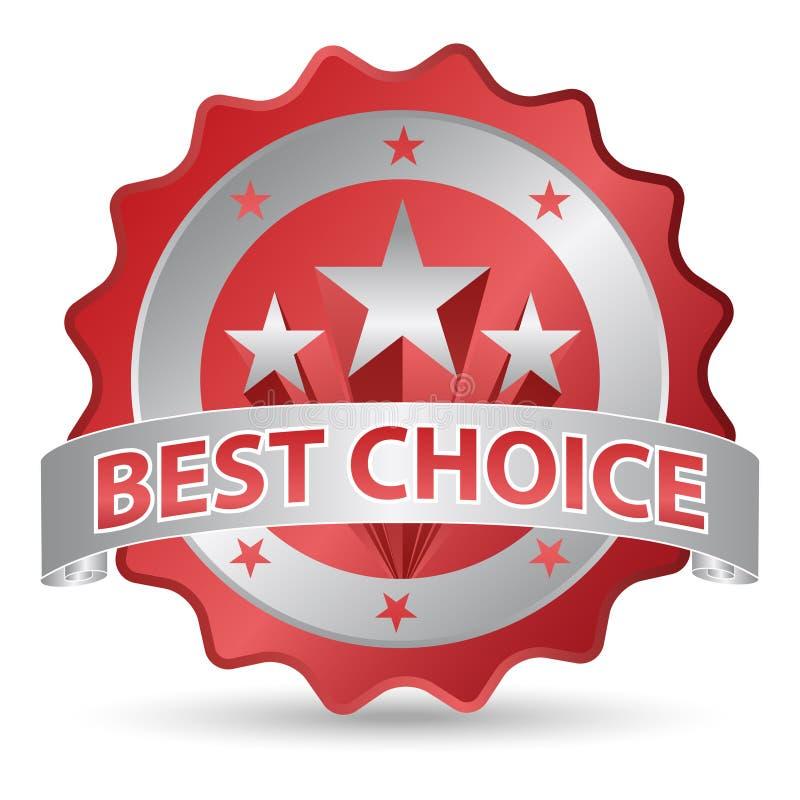 bäst choice etikett vektor illustrationer