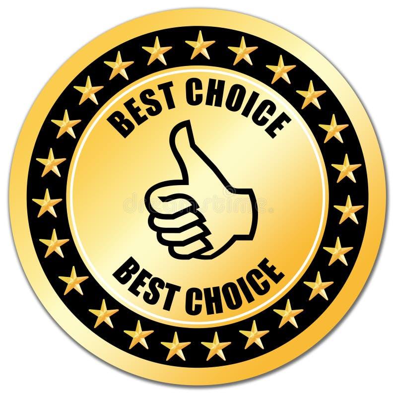 bäst choice guarantee royaltyfri illustrationer