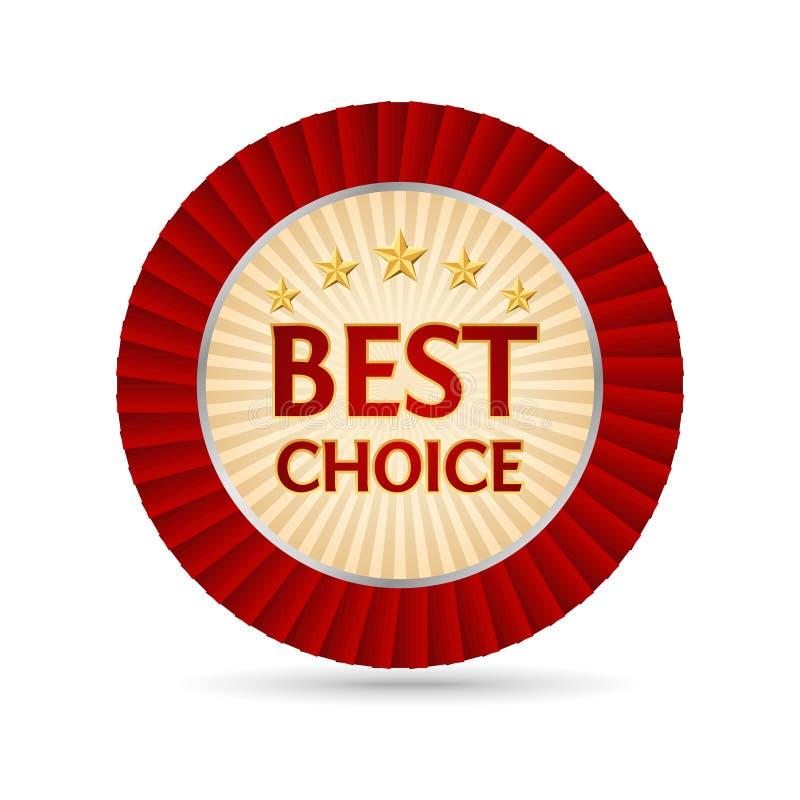 bäst choice guld- etikett stock illustrationer