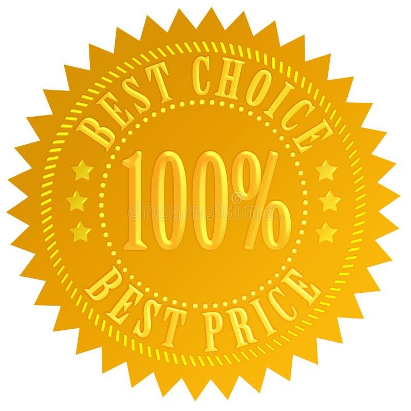 bäst choice pris stock illustrationer