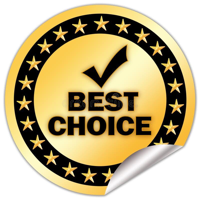 bäst choice symbol vektor illustrationer