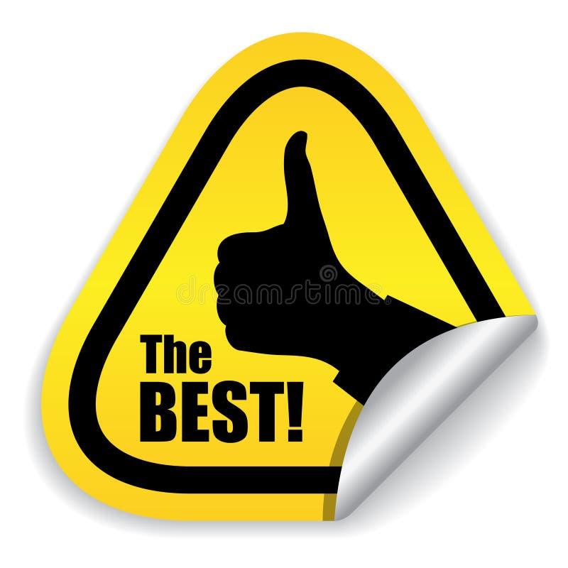 bäst choice symbol royaltyfri illustrationer