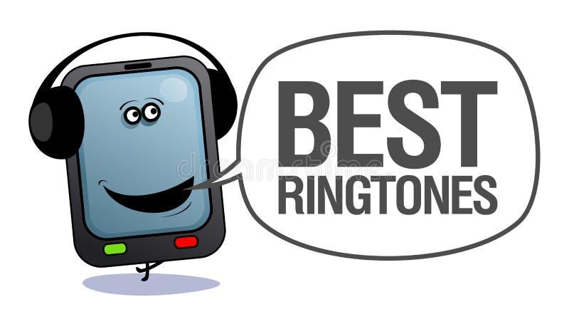 bäst mobila telefonringtones vektor illustrationer