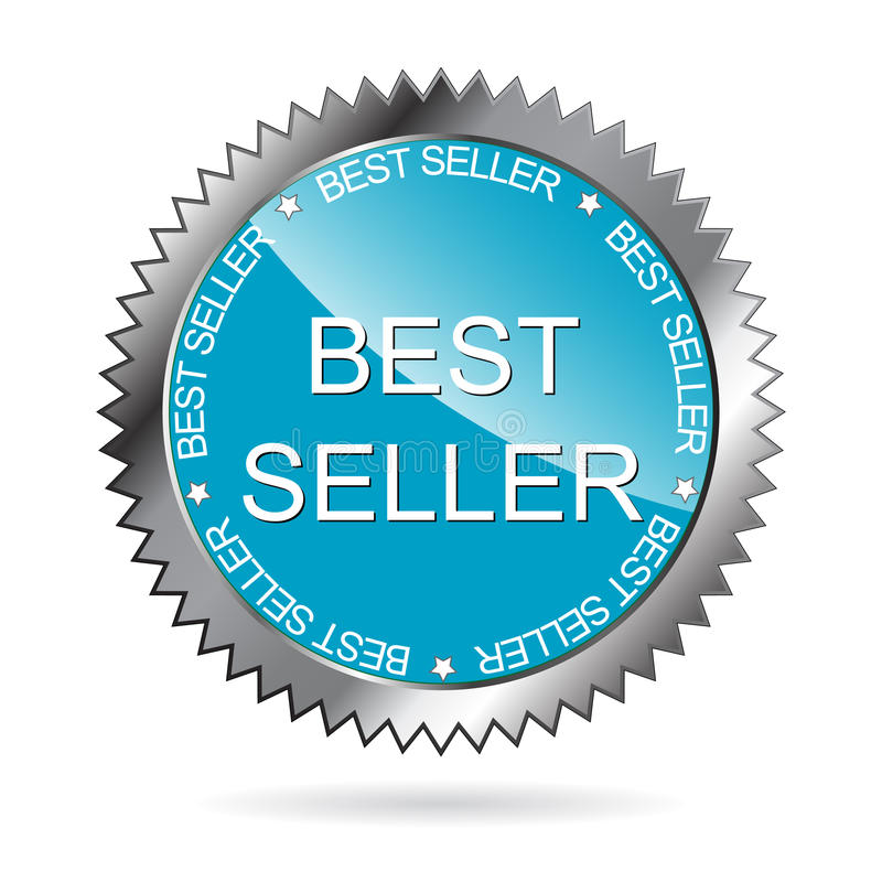 Bäst säljareetikett (VEKTOR) royaltyfri illustrationer