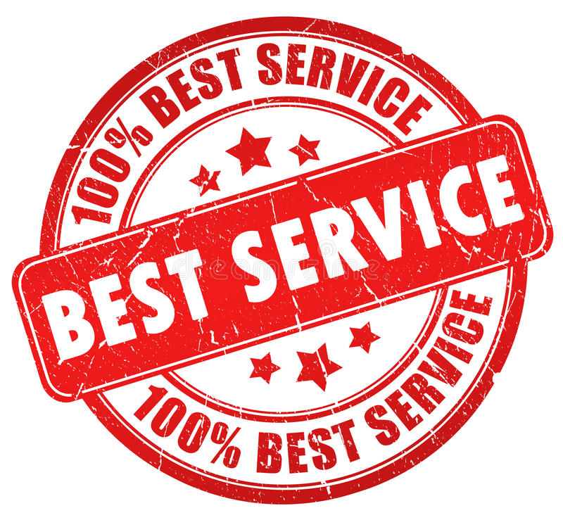 bäst service royaltyfri illustrationer