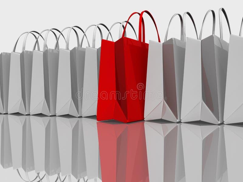 bäst shopping royaltyfri illustrationer