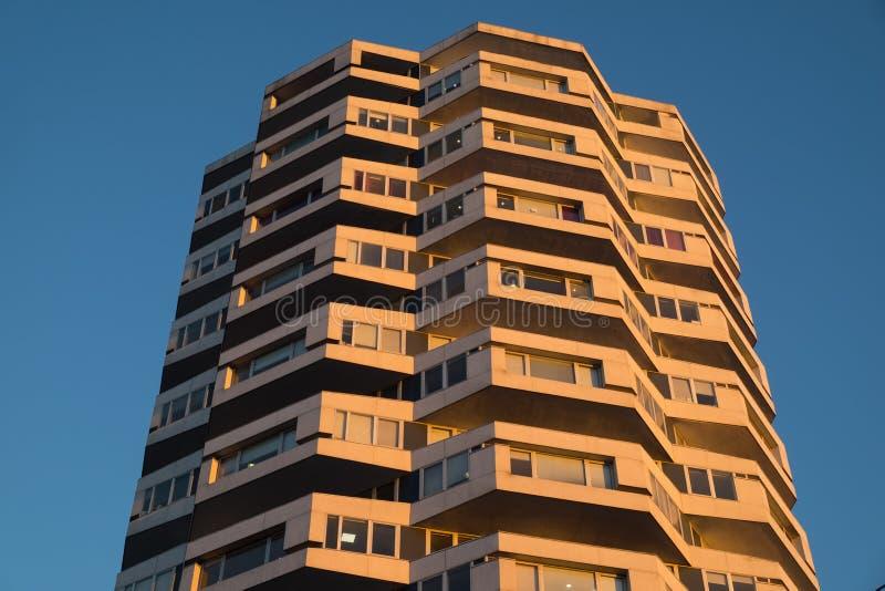 Bästa del av tornet No1 för NLA-torn nu i Croydon, södra Londo arkivbild