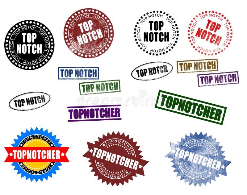 Bästa hack Topnotcher royaltyfri illustrationer